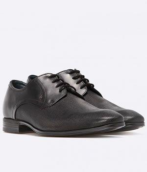Pantofi Piele Negri Barbati Bugatti