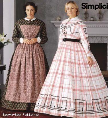 civil war dresses patterns | Simplicity 7212 Civil War Day/Camp Dress Costume PATTERN