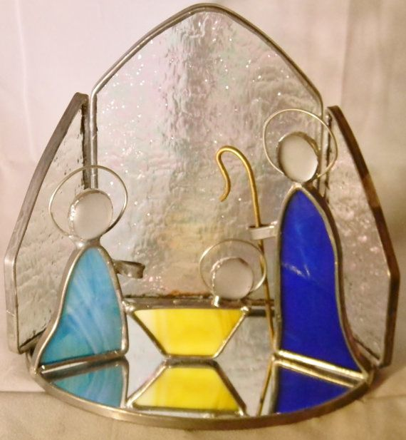 Stained Glass Nativity Scene by crafticritter on Etsy, $70.00