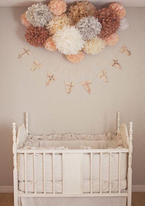 Nursery Poms ... 15 tissue paper poms // wedding by PomLove,
