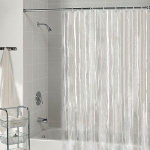 Hookless Plastic Shower Curtain