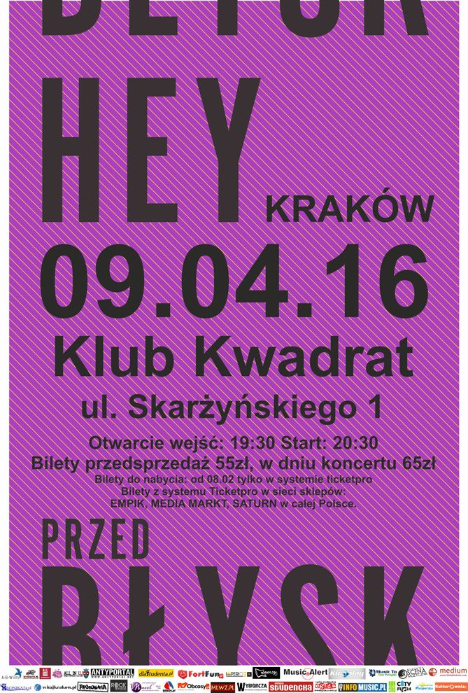 Relacja z koncertu HEY w Krakowie: http://heavy-metal-music-and-more.blogspot.com/2016/04/hey-zagra-koncert-w-krakowie-relacja.html