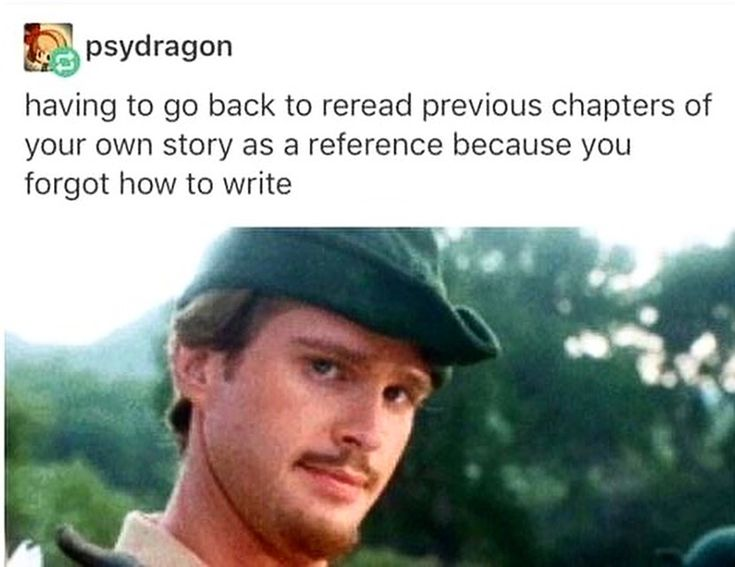 Or because you come up with all these details in the moment as you're writing,… – writing stuff ^^