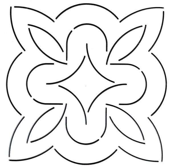 Quilt Stencil Curves Block By Emmerson, Keryn