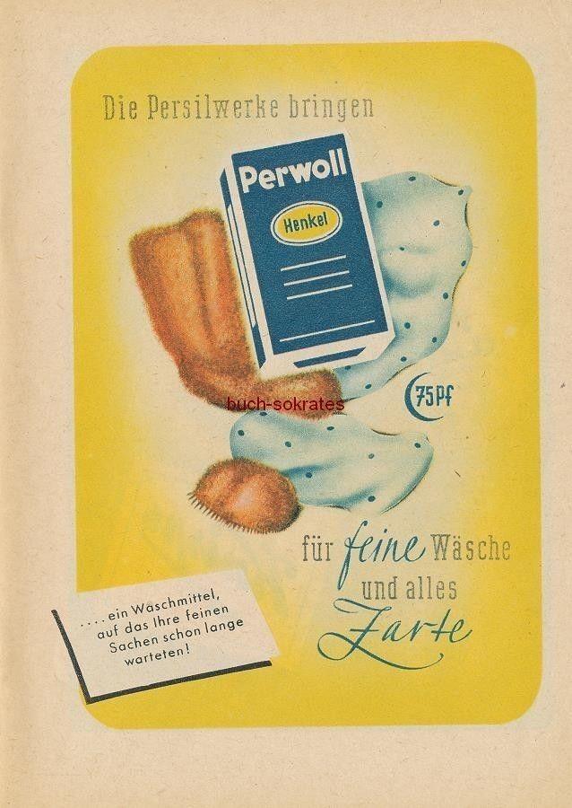 Werbung Anzeige Perwoll Waschmittel - Persilwerke - 1949