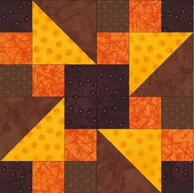 Want it, Need it, Quilt!: The Desperate Housewife's Quilt - This block is made from cutting a Churn Block in fourths. Several different layouts provided. This gal is a genius.