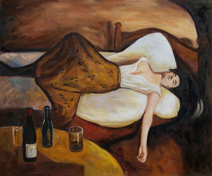 The day after edvard munch painting reproduction for Oil art for sale