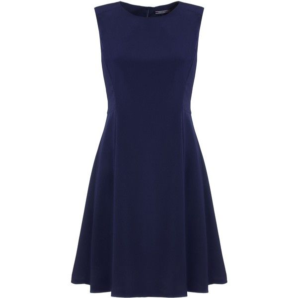 Tommy Hilfiger Neige Dress ($190) ❤ liked on Polyvore featuring dresses, navy, women, navy blue dress, blue skater skirt, skater skirt, blue fit and flare dress and christmas dresses