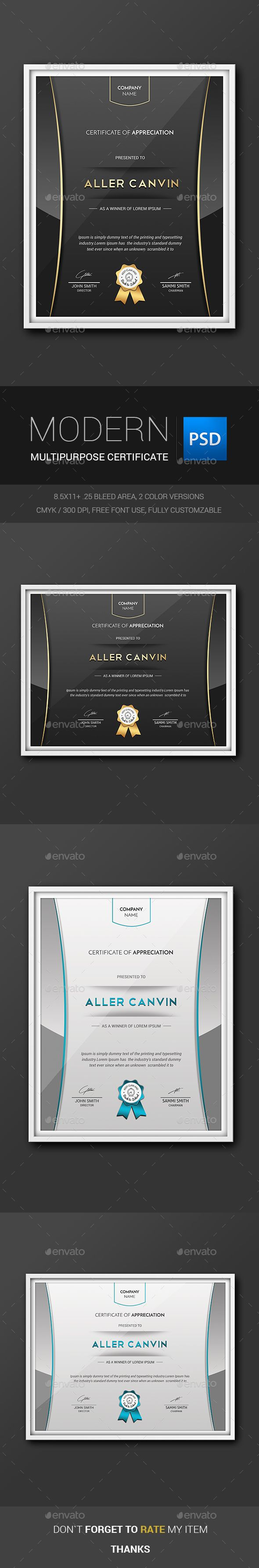 #Certificate - #Certificates #Stationery Download here: https://graphicriver.net/item/certificate/11415124?ref=alena994