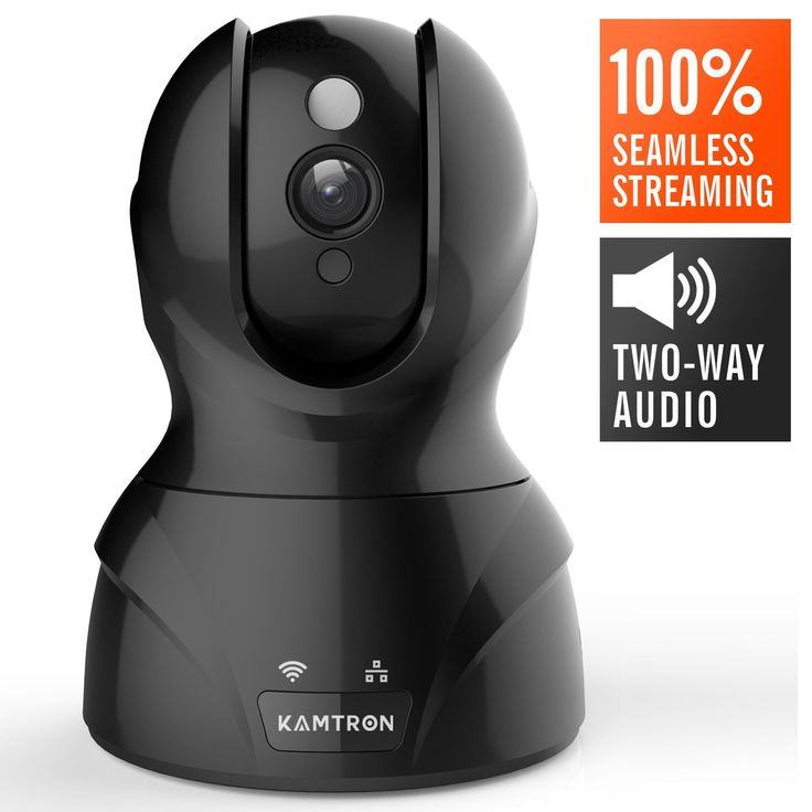 Wireless Security Camera,KAMTRON HD WiFi Surveillance IP Camera Home Monitor with Motion Detection Two Way Audio Night Vision,Black