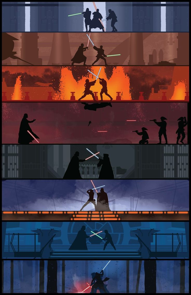 Lightsaber battles. The one in episode 3 will always be my favorite though