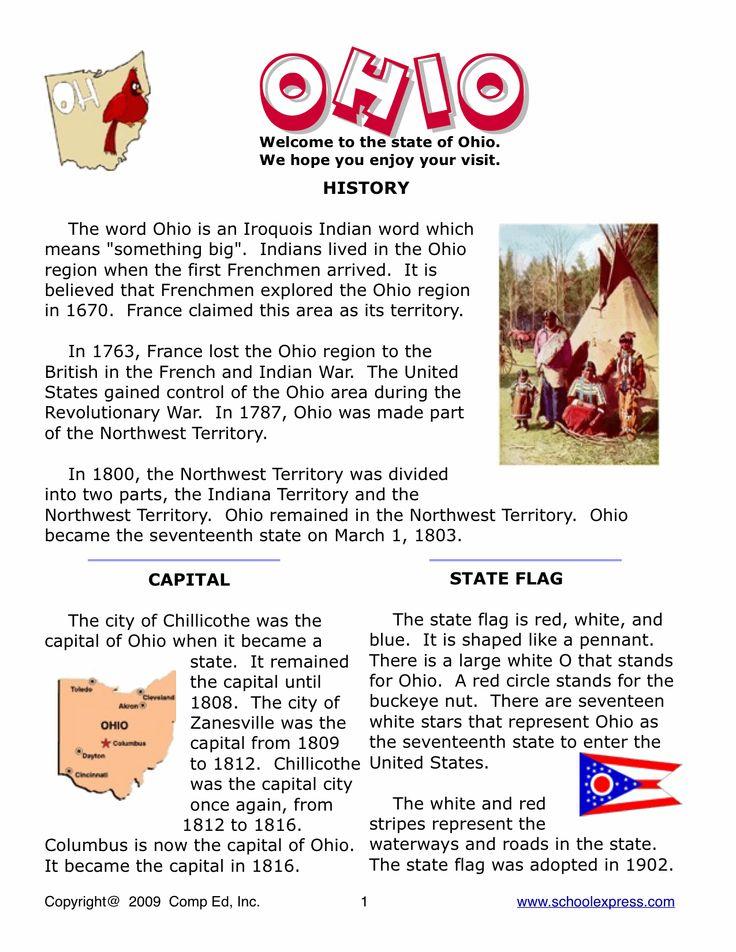 Ohio History Worksheets History Special Education