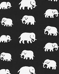 Tapet Elefant Svart från Josef Frank / Svenskt Tenn