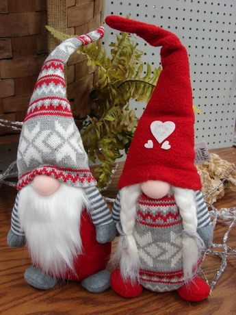 Scandinavian Gnome Tomte Felt Shelf Sitter
