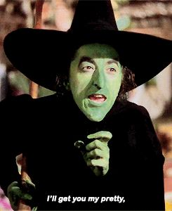 "THE WIZARD OF OZ ~ ""I'll get you my pretty..."" - The Wicked Witch of the West (Margaret Hamliton). [Video/GIF]"