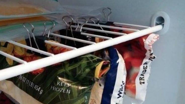 DIY Bulldog clips keep food fresh and your kitchen organised.