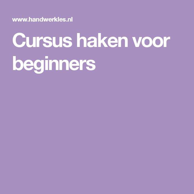 Cursus haken voor beginners