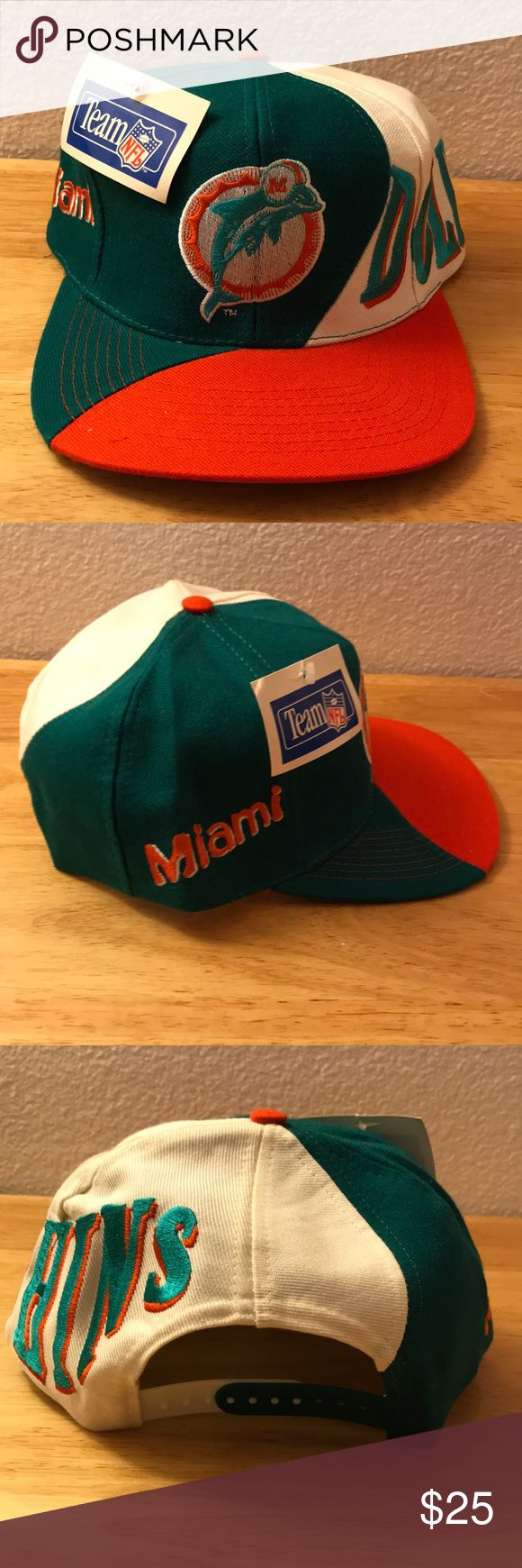 Vintage NFL Miami Dolphins Hat Vintage NFL Miami Dolphins Hat, Brand New, Never Worn or Used, WILL SHIP IN ONE DAYAll bundles of 2 or more receive 20% off. Closet full of new, used and vintage Vans, Skate and surf companies, jewelry, phone cases, shoes and more. NFL Accessories Hats
