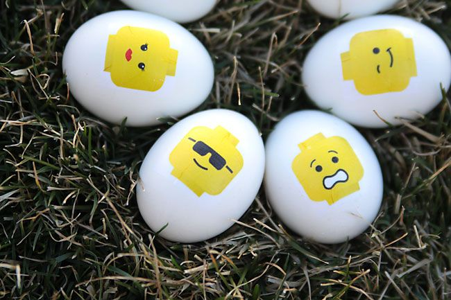 LEGO Easter eggs - just use the free tattoo printable by It's Always Autumn. Every egg is awesome!