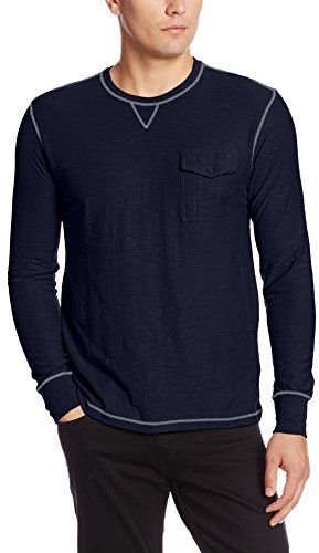 $8, Navy Long Sleeve T-Shirt: Company 81 Native Crew T Shirt. Sold by Amazon.com. Click for more info: http://lookastic.com/men/shop_items/114914/redirect