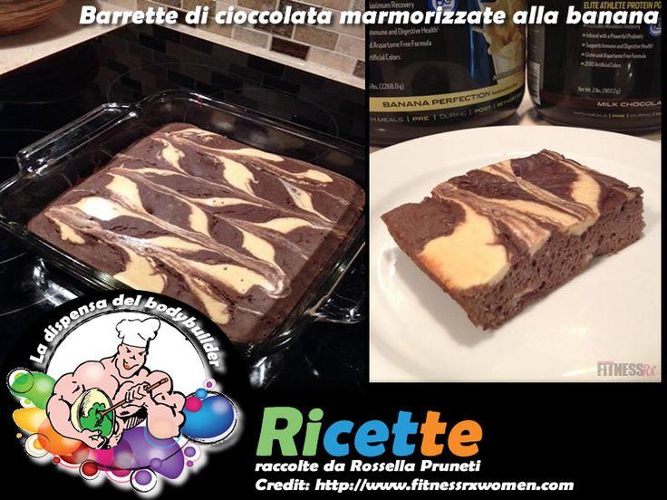 Barrette di cioccolata marmorizzate alla banana