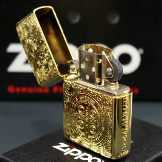Premium Plated 24K Gold Constantine Zippo Lighter Armor
