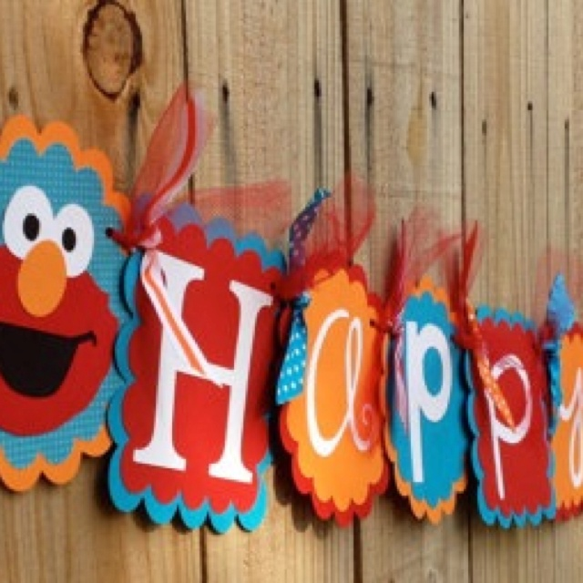 Elmo Birthday Banner!