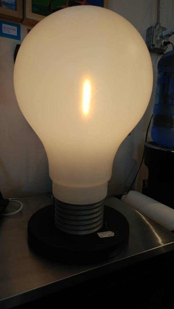 1960s Mod Pop Art Giant Light Bulb Lamp Light Bulb Lamp Lamp Bulb
