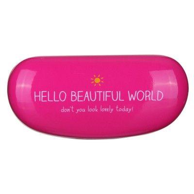 Hello Beautiful World Sunglasses Case