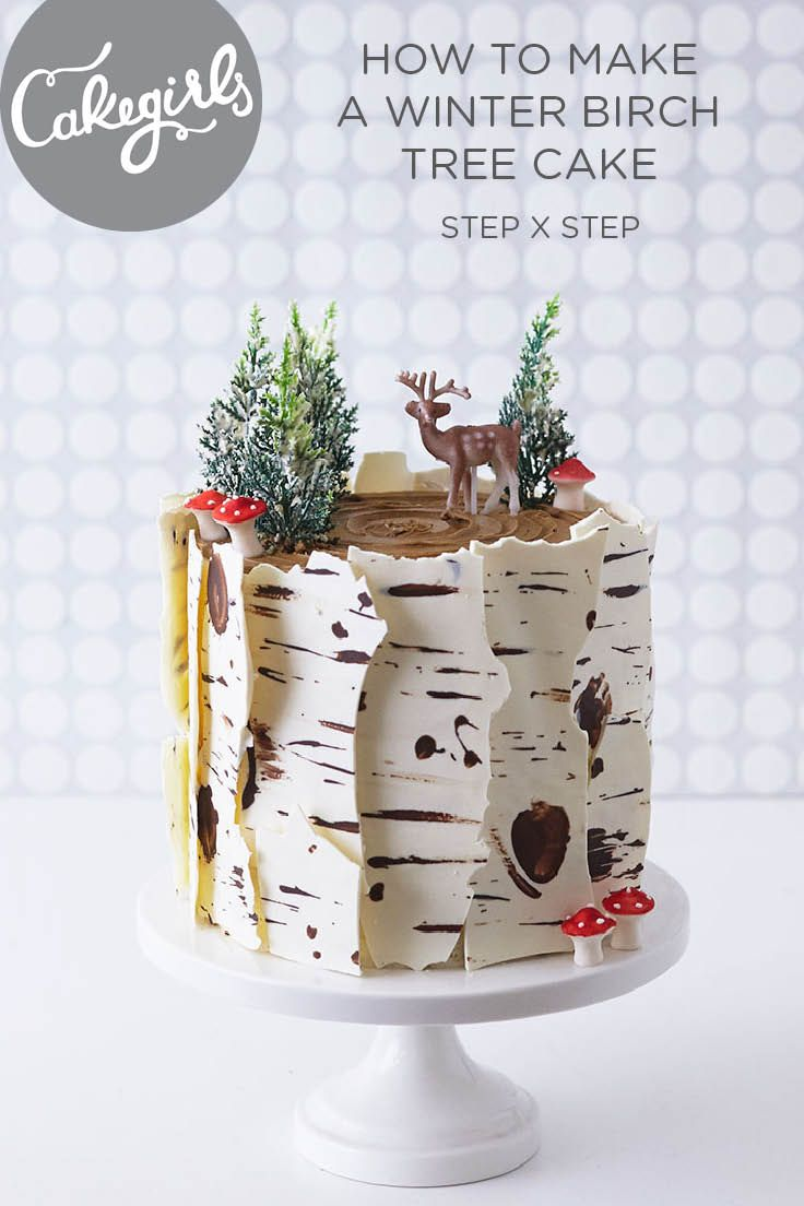 Winter Birch Tree Cake