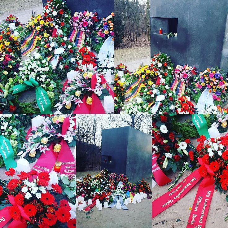 Heute ist der Holocaust Remembrance Day. @_openyourmouth_ hat aus diesem Anlass heute so wie viele Parteien Organisationen Vereine Initiativen und Privatmenschen Blumen am Denkmal für die im Nationalsozialismus verfolgten Homosexuellen niedergelegt.  Im Dritten Reich wurden über 100.000 Männer polizeilich erfasst (Rosa Listen) 50.000 Urteile ergingen aufgrund von  175 und 175a RStGB eine unbekannte Zahl wurde in psychiatrische Anstalten überwiesen. Hunderte schwuler Männer wurden auf…