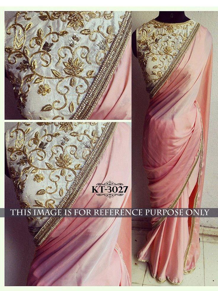 Indian Bollywood Style Heavy Wedding Beautiful Party Designer Saree Sari KT3027