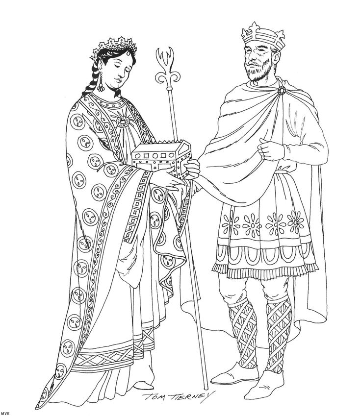 490 best images about coloring pages mode people on for Middle ages coloring pages
