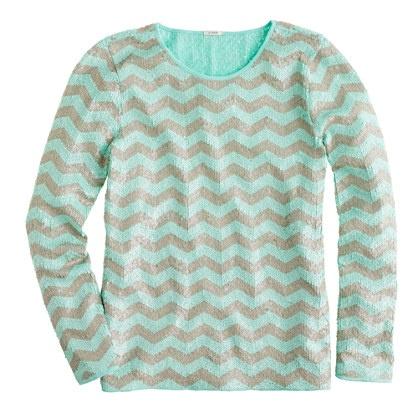 Zigzag sequin tee: Zigzag Sequin, Sweater, Fashion, Style, Sequins, Closet, Jcrew