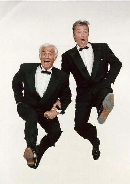 1997 - Jean-Paul Belmondo et Alain Delon1997 - Depuis 40 ans ils sont les as des…