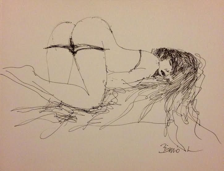 Konrad Biro pen drawing