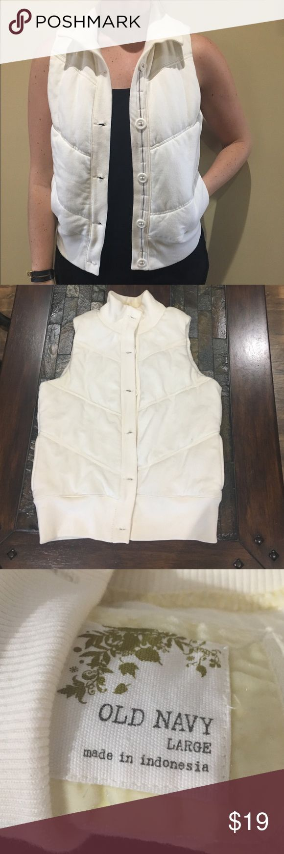 Old Navy vest! Grab this great neutral 6 button vest! It was gently worn and purchased at Old Navy! Old Navy Jackets & Coats Vests