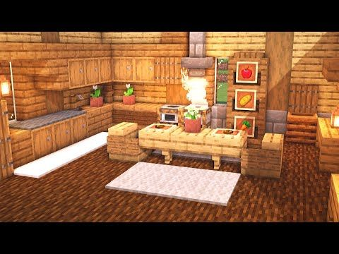 Minecraft: How to Build a Large Kitchen Design (Tutorial ...