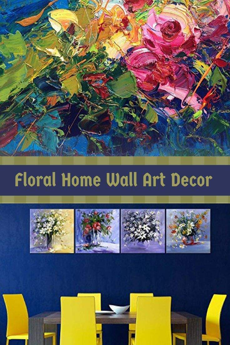 I love the look of beautiful floral canvas wall art as it is beautiful and vivid.  People will be captivated by your choice of flower wall art which says a great deal about you and your home.  You can appreciate the combination of soft colored flowers or something more bold and abstract.  Floral Home Wall Art Decor