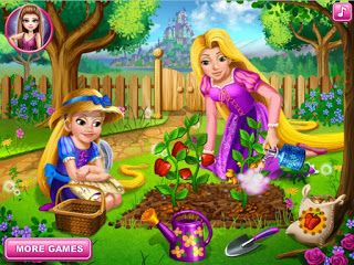 Rapunzel is teaching her curious daughter the magic of gardening and today they will be planting peppers. Join the two blonde princesses and Pascal in the garden to learn how vegetables are grown. It takes a lot of caring and patience until you can collect your crops so pay attention to all the needed steps and you can become a gardener.Game Controls:  This game is played with mouse.  Click Here To Play      Back To Home Page  For Best Content Visit>Flash Games Empire Subscribe: Flash Games…