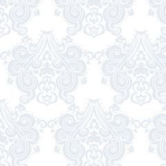 Vector floral damask pattern background. Luxury classic floral damask ornament, royal Victorian vintage texture for wallpapers, textile, fabric. Delicate floral baroque element.