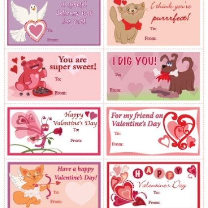 valentines day print out decorations