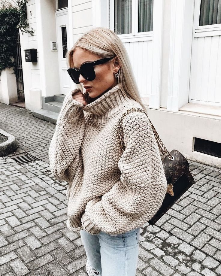 4666b7d6db9573 Chunky knit turtleneck. - casual fall outfit, winter outfit, style, outfit  inspiration, millennial fashion, street style, boho, vintage, grunge,  casual, ...
