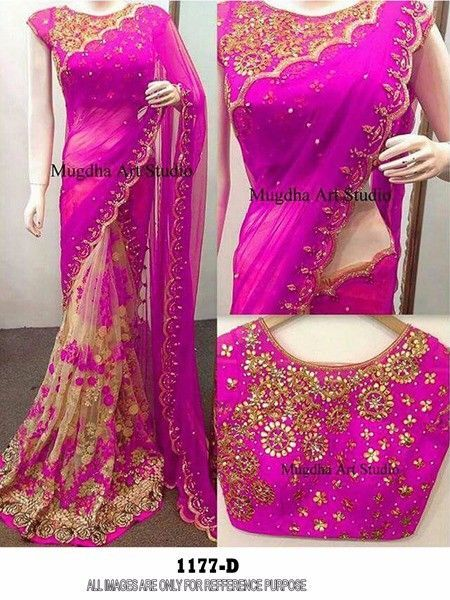 Indian Bollywood New Designer Saree Wedding Party wear Pakistani Lehenga Sari 2 #krishacreation #sareesari