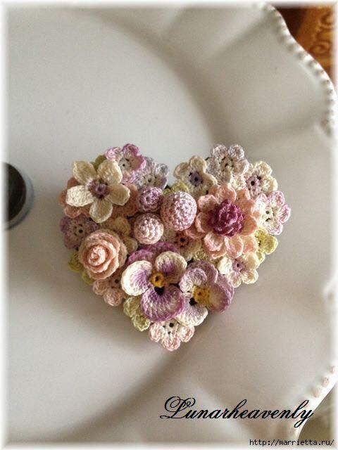 Невероятной красоты декор!!! Ниже нашла немного схемок таких цветочков, в интернете их масса, найти не проблема, если этих будет недостаточно. (С.З.)    © Теперь МК: Когда я задумала связать летни…