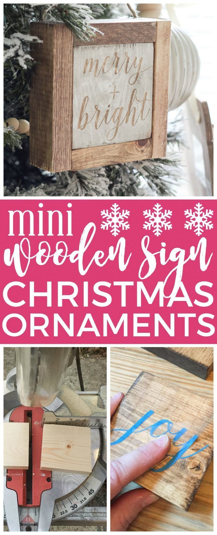 Christmas wooden christmas memories hanging sign sold out - Mini Wooden Sign Christmas Ornaments Create A Simple Wooden Sign With A Cute Saying And