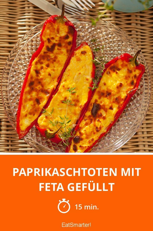 Paprikaschtoten mit Feta gefüllt - smarter - Zeit: 15 Min.   eatsmarter.de