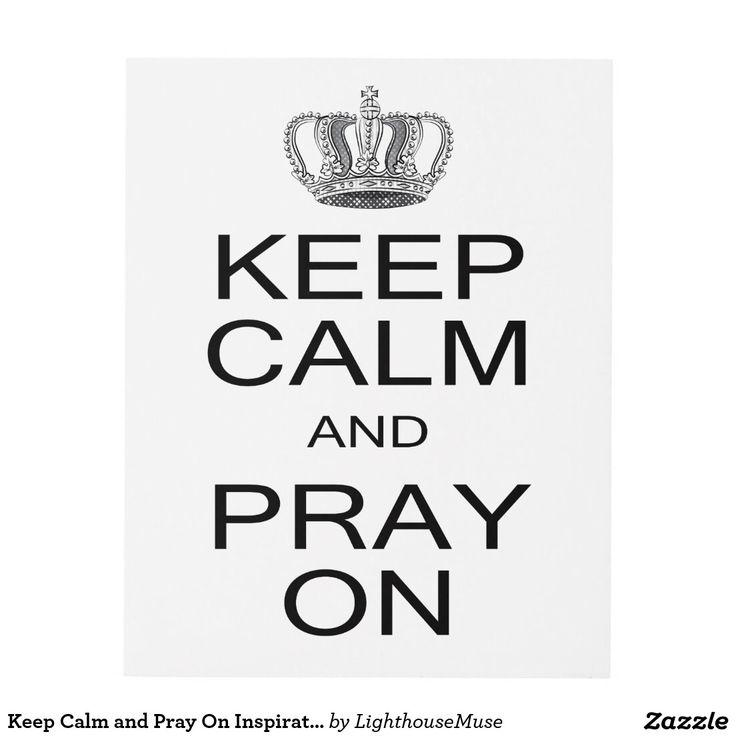 Keep Calm and Pray On Inspiration with Royal Crown Panel Wall Art