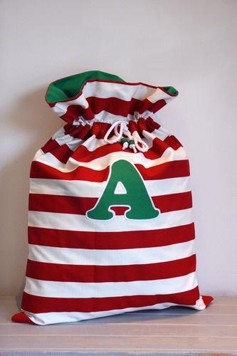 Red Large Stripe Santa Sack