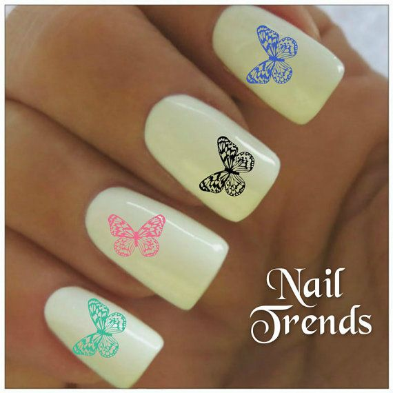 Butterfly Vinyl Nail Stickers, Nail Art Decals